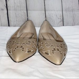 JEAN-MICHEL CAZABAT Laser Cut Pointy Leather Flats